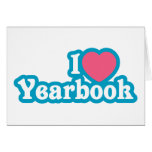 I Heart / Love Yearbook Greeting Cards