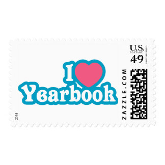 I Heart / Love Yearbook Postage Stamp