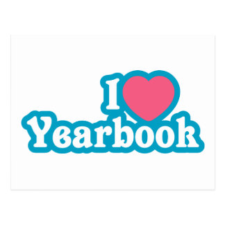 I Heart / Love Yearbook Postcard