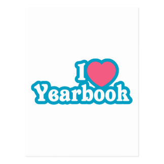 I Heart / Love Yearbook Postcard
