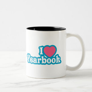I Heart / Love Yearbook Two-Tone Coffee Mug