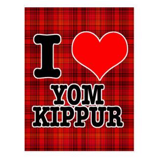 I HEART (LOVE) YOM KIPPUR POSTCARD