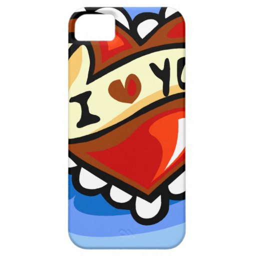 I HEART LOVE YOU CARTOON COLORFUL SHAPE DATING HAP iPhone 5 COVERS