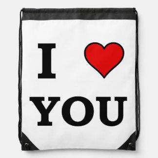 I Heart Love You Drawstring Backpack