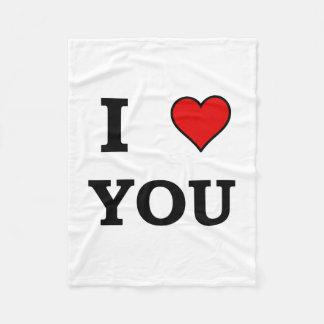 I Heart Love You Fleece Blanket