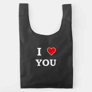 I Heart Love You Reusable Bag