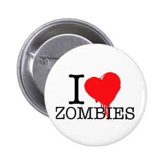 I HEART LOVE ZOMBIES BUTTON