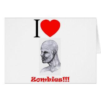 I Heart (Love) Zombies Card