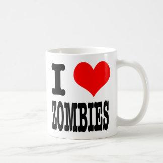 I HEART (LOVE) ZOMBIES COFFEE MUG