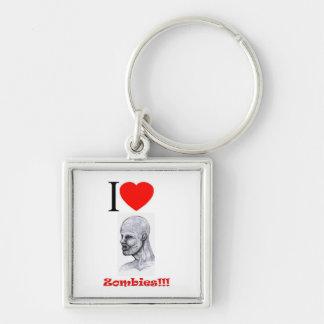 I Heart (Love) Zombies Keychain