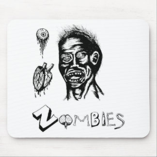 I Heart (Love) Zombies Mouse Pad
