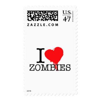 I HEART LOVE ZOMBIES POSTAGE