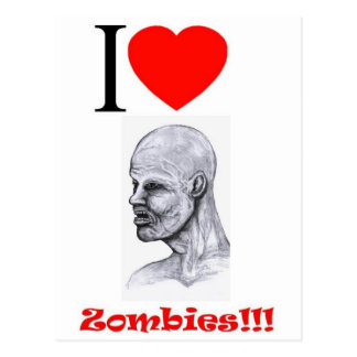 I Heart (Love) Zombies Postcard