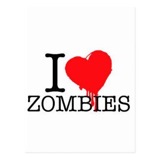 I HEART LOVE ZOMBIES POSTCARD
