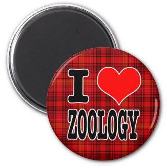 I HEART (LOVE) ZOOLOGY 2 INCH ROUND MAGNET