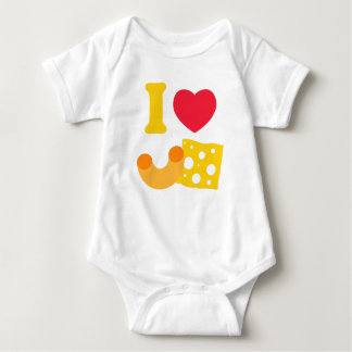 I Heart Mac and Cheese Baby Bodysuit