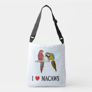 I Heart Macaws Crossbody Bag