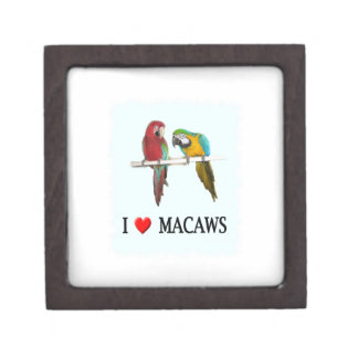 "I ""Heart Macaws Gift Box"