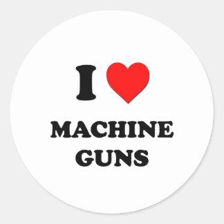 I Heart Machine Guns Stickers