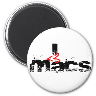 I Heart MAcs (red) 2 Inch Round Magnet