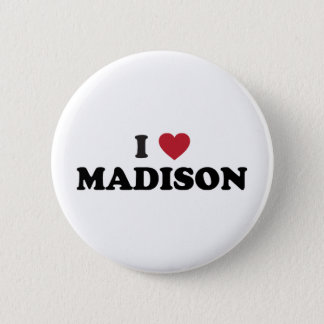 I Heart Madison Wisconsin Pinback Button