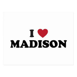 I Heart Madison Wisconsin Postcard