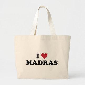 I Heart Madras India Canvas Bags