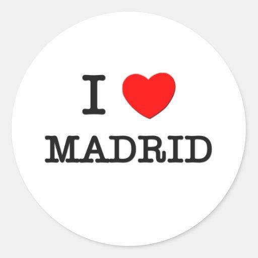 I Heart MADRID Classic Round Sticker