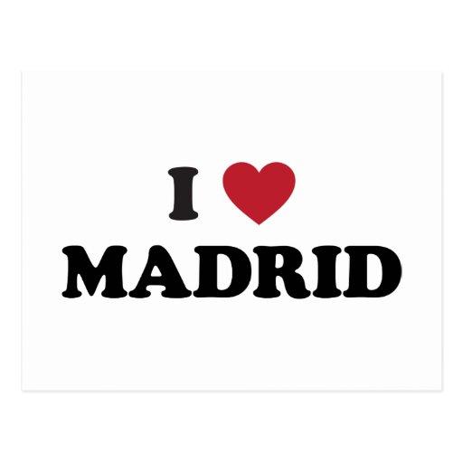 I Heart Madrid Spain Post Card