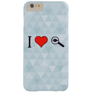 I Heart Magnifying Glasses Barely There iPhone 6 Plus Case