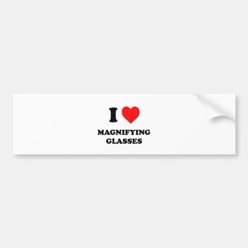 I Heart Magnifying Glasses Bumper Stickers