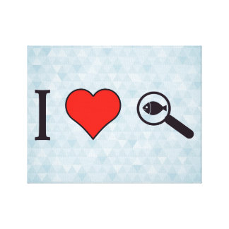 I Heart Magnifying Glasses Canvas Print