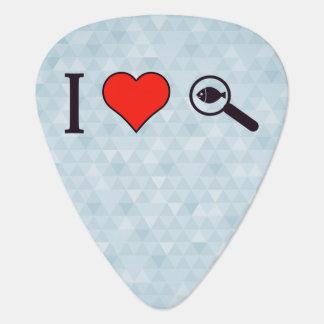 I Heart Magnifying Glasses Guitar Pick