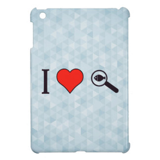 I Heart Magnifying Glasses iPad Mini Case