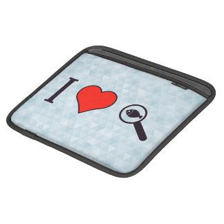 I Heart Magnifying Glasses iPad Sleeve