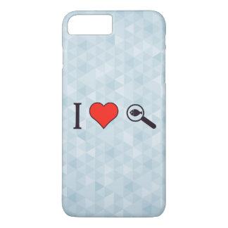 I Heart Magnifying Glasses iPhone 8 Plus/7 Plus Case