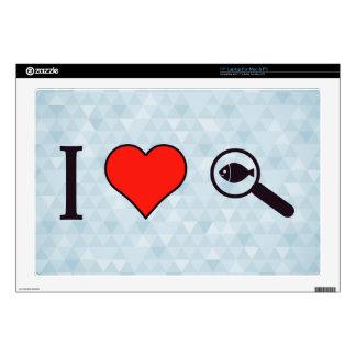 I Heart Magnifying Glasses Laptop Skins