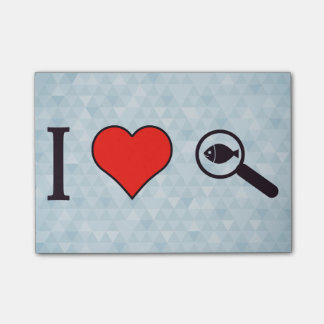 I Heart Magnifying Glasses Post-it Notes