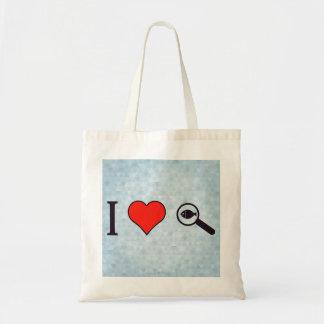 I Heart Magnifying Glasses Tote Bag