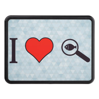 I Heart Magnifying Glasses Trailer Hitch Cover