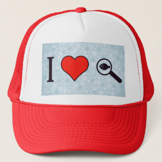 I Heart Magnifying Glasses Trucker Hat
