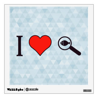 I Heart Magnifying Glasses Wall Decal