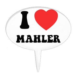 I Heart Mahler Cake Toppers