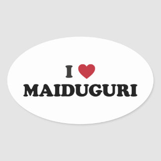 I Heart Maiduguri Nigeria Oval Sticker
