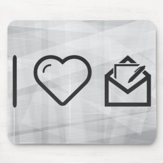 I Heart Mails Mouse Pad