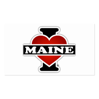 I Heart Maine Double-Sided Standard Business Cards (Pack Of 100)