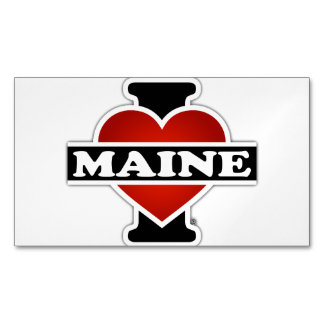 I Heart Maine Magnetic Business Cards (Pack Of 25)