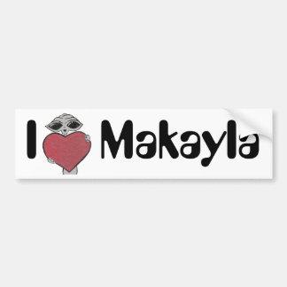 I Heart Makayla Alien Bumper Sticker