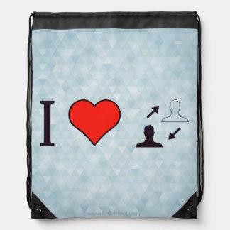 I Heart Making Informed Decisions Drawstring Bag