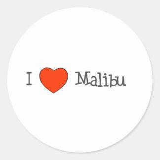 I Heart Malibu Classic Round Sticker